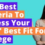 The Best Criteria To Assess Your Kids' Best Fit For College In 2021.
